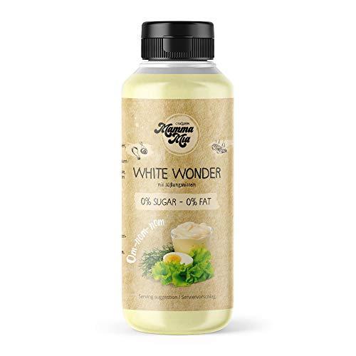 GymQueen Mamma Mia Zero Sauce | kalorienarm, ohne Fett & ohne Zucker | Zum Verfeinern von Gerichten oder als Salat-Dressing | vegetarisch und laktosefrei | White Wonder Soße
