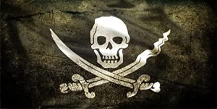 Jolly Roger Skull And Crossbones Photo License Plate