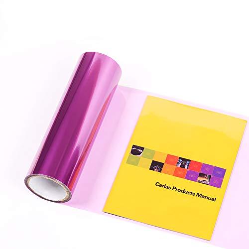 Creacom Film de Couleur pour Lampe de Voiture, 2PCS Film de Couleur pour Lampe de Voiture Film de lumière Transparent Film de Couleur adhésif en Vinyle Violet