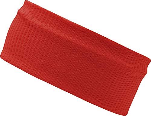 FEINZWIRN Kopfband Haarband Stirnband 9cm breit in vielen Farben perfekt für Freizeit, Sport und Co. (red)