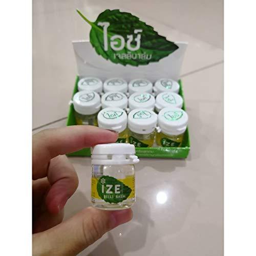 12 x 7g. Thai Aromatic Gel IZE Jelli Balm II Inhalation Relieve Dizziness & Insect Bites Travel Size by HTHS