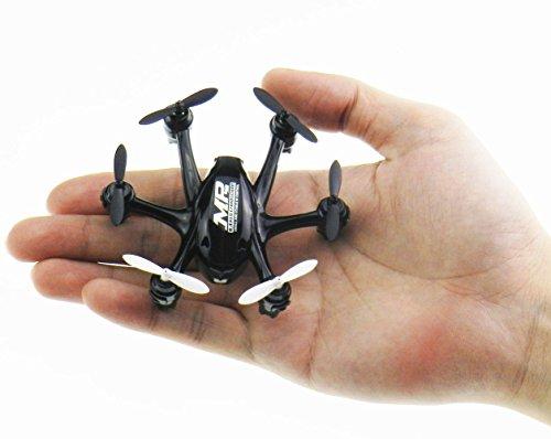 NiGHT LiONS TECH X800S 6 Axis Gyro Headless 2.4G Mini RC Pocket Drone Quadcopter 3D Roll Auto Return(Black)