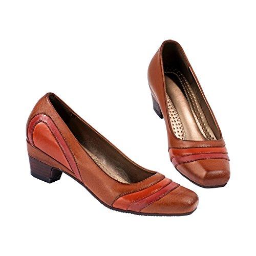 wonderwalk Bequem-Pumps Ariane, Blockabsatz Allround-Schuh eleganter Damenschuh Mode Schuh sonstige Materialien