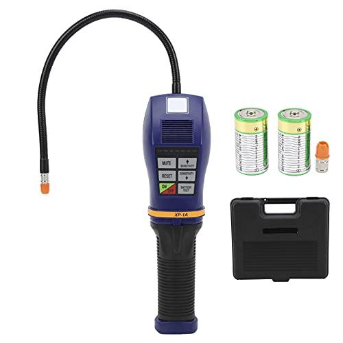 Akozon Detector de Fugas halógeno, Detector de Fugas halógeno portátil, probador de refrigerante de Aire Acondicionado electrónico de Alta sensibilidad para Coche