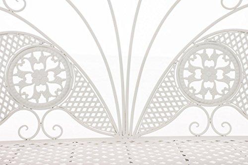 CLP Metall-Gartenbank TJURE im Landhausstil, Eisen lackiert, ca. 140 x 60 cm Weiß - 4