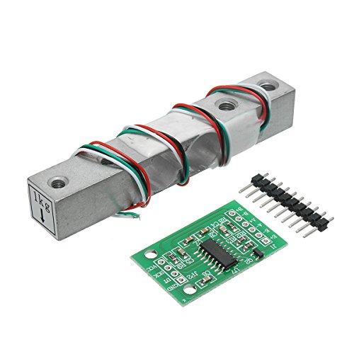 Bluelover Hx711 24-bits Ad module + 1 kg aluminiumlegering weegschaal weegsensor lastencel kit voor Arduino