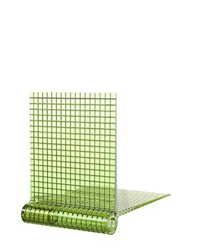 Kartell Kite Shelf Juego de 2 estanterías, Verde, 17.5 x 23 x 23 cm