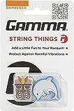 Gamma String Things Maske, Delfin Dämpfer Im Doppelpack-Grau, Blau Schlägerzubehör, Multi