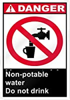 アルミ金属ノベルティ危険サイン非飲用水は飲まない、ビンテージ外観再生金属ティンサイン金属看板壁の装飾ガレージショップバーリビングルームの壁アートポスター