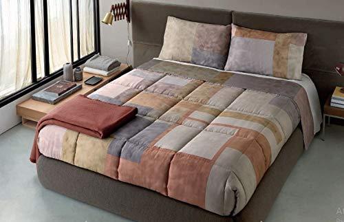 Somma Colcha Zeus para cama de matrimonio, 260 x 260 cm, de raso de algodón, impresión digital, decoración
