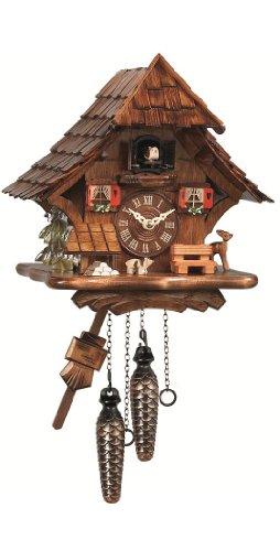 Engstler Reloj cucú de cuarzo Casa de la selva negra EN 492 Q