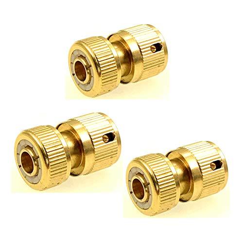 JZK, 3 connettori per tubo in ottone con arresto acqua per estremità del tubo, non per rubinetto,...