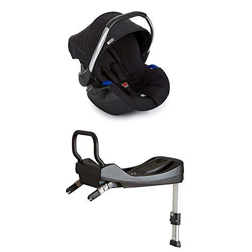 Hauck Comfort Fix Babyschale, inkl. Isofix-Base, ECE Gruppen 0 ab Geburt bis 13 kg nutzbar, schwarz (black)