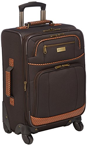 Tommy Bahama Carry On Luggage - 20 Inch Lightweight Expandable Rolling Spinner Luggage with Wheels Travel Suitcase, Dark Brown