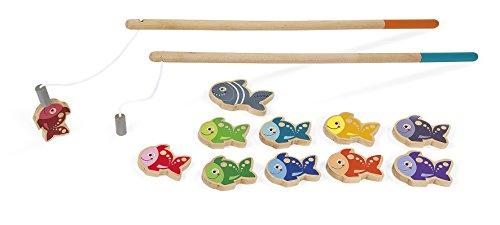 Janod J03062 - Magnet-Angelspiel Holz Let'S Go Fishing
