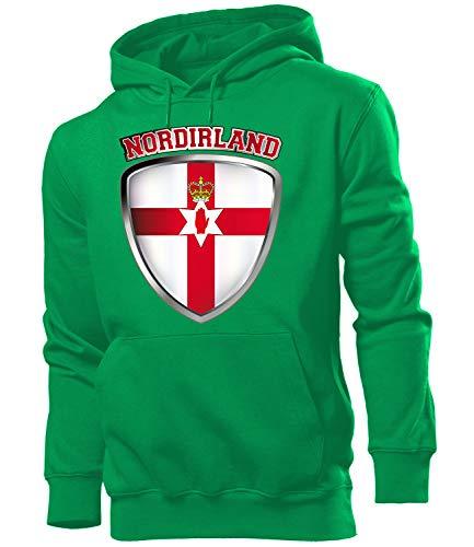 Nordirland northern ireland Fussball Fanhoodie Fan Männer Herren Hoodie Pulli Kapuzen Pullover Fanartikel Trikot Look Geschenke flagge zubehör fahne fußball Fanartikel Oberteil flag artikel outfit