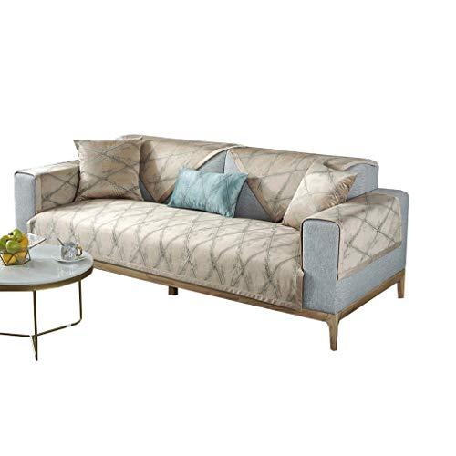 Artículos para el hogar Sofá Cover, grueso del sofá de la cubierta de asiento del sofá 1/2/3/4 Protección del cojín, elástico tejido elástico amortiguador del sofá, Toalla posterior iguales Decoración