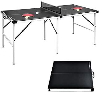 comprar comparacion Win.Max Mesa de ping pong de mesa, tamaño mediano, plegable, con red, para interior y exterior