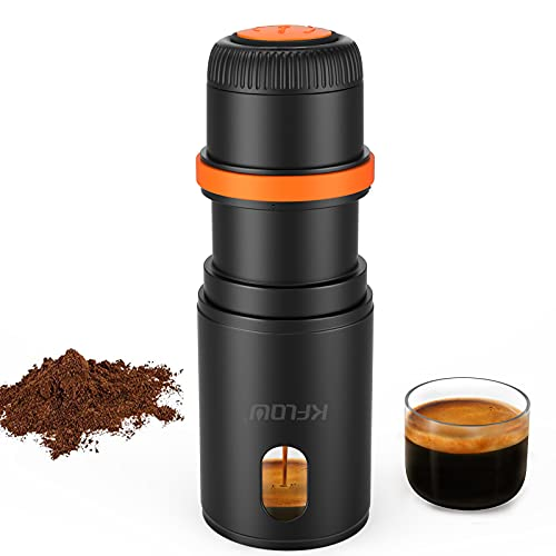 Portable Espresso Maker Hand Coffee Machine Compatible with Ground Coffee,Foldable Mini Outdoor Travel Espresso Coffee Maker for Camp Camping Hiking Business Trip Travel (GC)