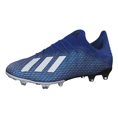 adidas X 19.2 Fg, Scarpe da Calcio da Uomo, Blu (Team Royal Blue/Ftwr White/Core Black), 44 EU