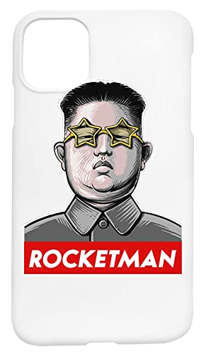 Rocketman Donald Trump Kim Jong-Un Rocket Man Caja del Teléfono Compatible con iPhone 11 Cubierta de Plástico Duro Hard Plastic Cover