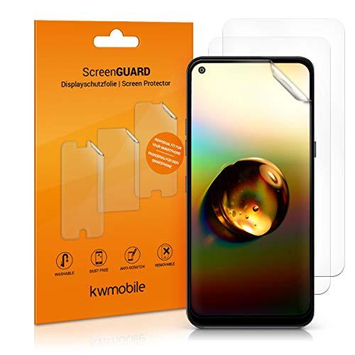 kwmobile 3X Schutzfolie kompatibel mit LG K61 - Folie klar - Bildschirmschutzfolie Bildschirmschutz transparent Bildschirmfolie