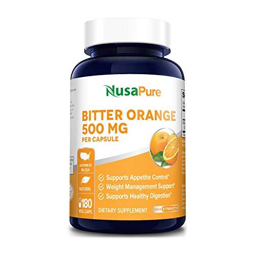 Bitter Orange 500mg 180 Veggie Caps (Vegetarian, Non-GMO & Gluten Free) - Weight Loss Supplement - Natural Appetite Suppressant