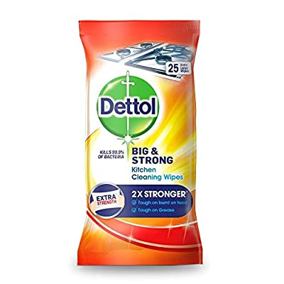 Dettol Big and Strong Kitchen Wipes, 25 Wipes by RB UK Commercial LTD