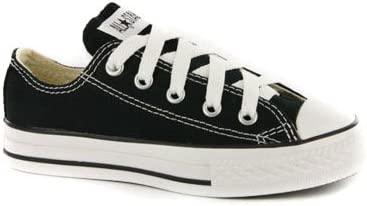 Converse Kids All Star Chuck Taylor Black Low Sneakers-Black-1.5