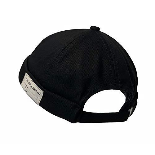 Clape Rolled Cuff Harbour Hat Summer Seemannsmütze, Thin Sailor Cap Leichte Retro Brimless Hat, Docker Cap Basecap für Herrn und Damen