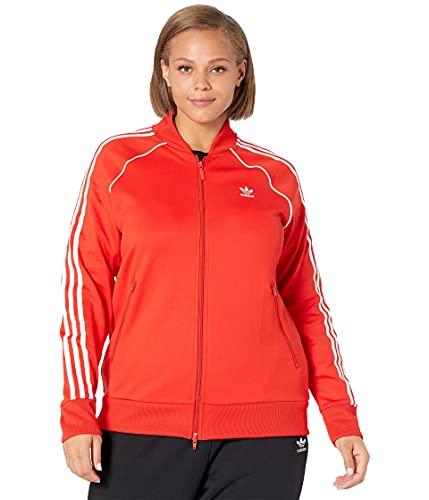 adidas Originals Women's Primeblue Superstar Track Top, Red, 1X