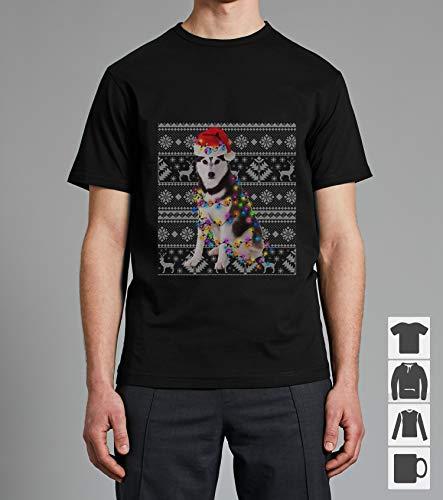 Siberian Husky Ugly Christmas Sweater Shirt Unisex TShirt, Short Sleeves Shirt, Long Sleeves Tshirt, Unisex Hoodie, Sweatshirt For Mens Womens Ladies Kids