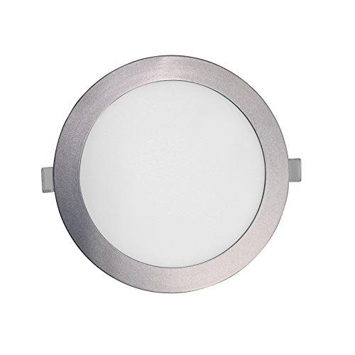 SevenOn LED 64544 Pack de 2 downlight LED SMD extraplano redondo, aluminio mate, 16W, 120º, 1400 lúmenes, 4000K, blanco neutro, IP20. No regulable.