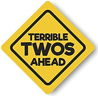 Jayd Products, Terrible Twos Ahead Construction Birthday Caution Signs, X-Large