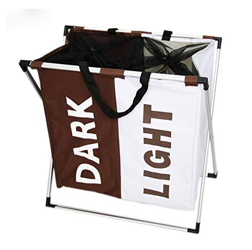 Shocly Cesto para Ropa Plegable Asas BañO Organizador Material Oxford,White+Brown