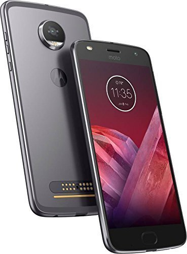Motorola Moto Z2 Play XT1710-06 - 64GB Dual SIM 4G LTE Factory Unlocked (Dark Gray) - International Version (No Warranty)
