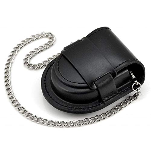 BOSHIYA Pocket Watch Leather Pouch Case Protector Holder Bag Timepiece Accessories Black 47mm