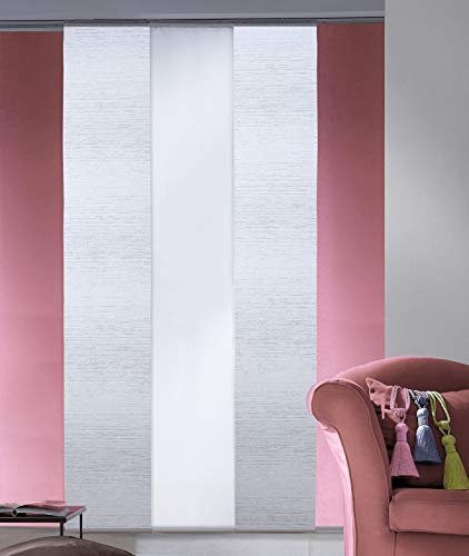 MADECOSTORE - Panel japonés tamizante de Wood blanco, 50 cm, gris claro, 50 x 250 cm