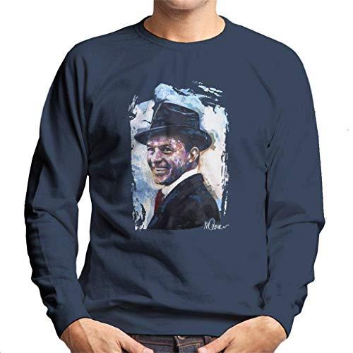 VINTRO Felpa da Uomo Frank Sinatra Hat Ritratto Originale di Sidney Maurer