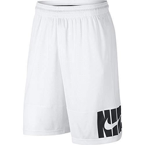 Nike Herren Basketball-Shorts Verbiage, White/White/Black, FR: M (Größe Hersteller: M)