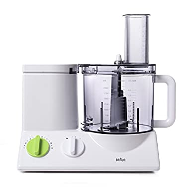 BRAUN FP3020 Food Processor With The Coarse Slicing Insert Blade And French fry System Bundle – 3 items