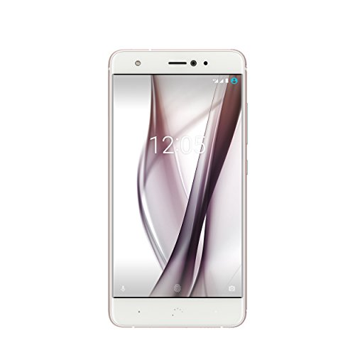 BQ Aquaris X Smartphone white/pearl-rose (5,2 Zoll FHD, Qualcomm Snapdragon 626 Octa Core, 32 GB + 3 GB RAM, 16 MP-Kamera, NFC, Fingerabdrucksensor, USB-C, Quick Charge 3.0, Android 8.1.0 Oreo)