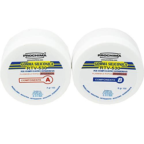 PROCHIMA GS737G200 Gomma Siliconiche Rtv-530 A+B, 200 gr