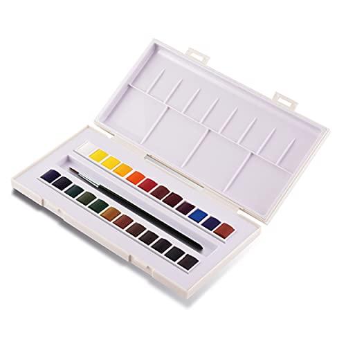 Sennelier, La Petite Aquarelle Watercolor Sets, 24-Color Half Pan Set, Multicolor