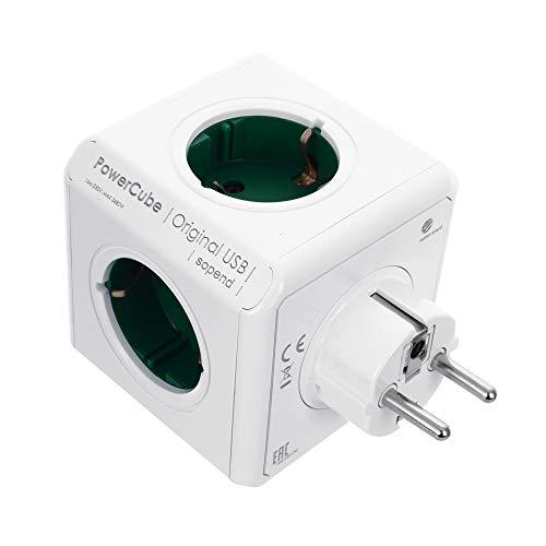 Xiaomu Cube Steckdosenleiste Power Würfel mit Steckdose und USB-Anschlüsse Steckdosenwürfel, EU-Stecker 5 Steckdosen Adapter Kabelgebundenes Schaltsteckdosenadapter für Smart Home