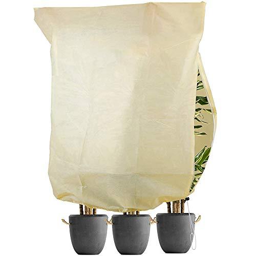 TOCYORIC Cubre Plantas, Cubiertas de Protección Vegetal Funda Protectora para Plantas, Protege de Bajas temperaturas los Cultivos de Plantas para Flores Arbustos Árboles (180x120CM)