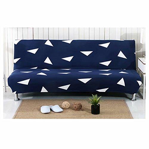 JHion Slaapbank set van eenvoudige vouwen leuning elastische sofa cover stof