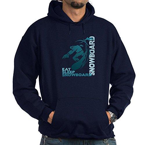 CafePress Eat Sleep Snowboard Hoodie (dunkel) Sweatshirt Gr. L, navy