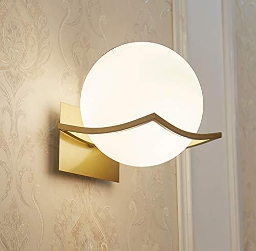 Lampada a Muro LED Interno Illuminazione - Creativo Luce Notturna Capezzale Corridoio Apparecchio Montato(Lampadina non Inclusa) Oro
