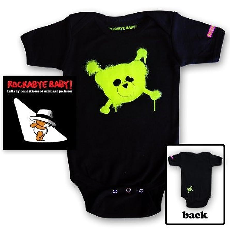 Rockabye Baby! Lullaby Renditions of Michael Jackson + Organic Baby Bodysuit (Green) by Rockabye Baby! (2012-08-03)